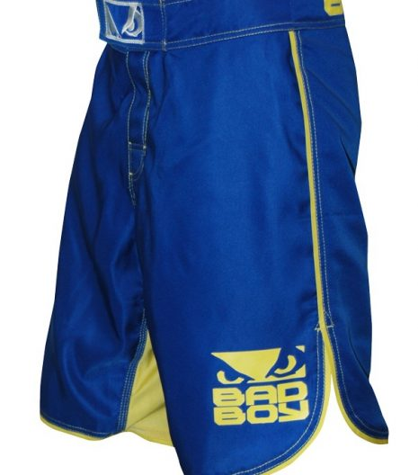 Bad Boy Blue/Yellow MMA Hlačke-0