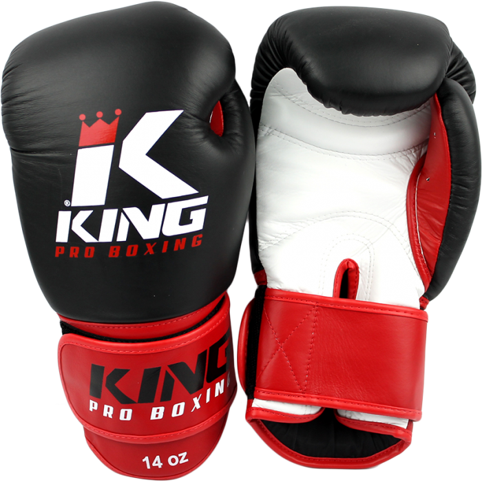 King KPB Pro Boxing rokavice Black/Red-0